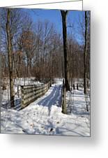 Hiking Trail Bridge With Shadows 3 Greeting Card