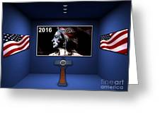 Hillary 2016 Greeting Card by Marvin Blaine