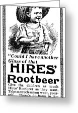 Hires' Root Beer Ad, 1895 Greeting Card