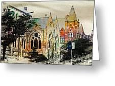 Historic Churches St Louis Mo - Digital Effect 7 Greeting Card