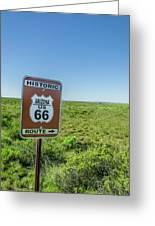 Historic Old Route 66 Passed Greeting Card
