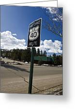 Historic Route Us 40 Sign Greeting Card
