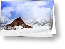 Historic Steamboat Springs Barn Greeting Card