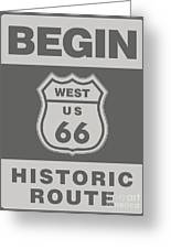 Historical Route 66 Sign Poster Greeting Card
