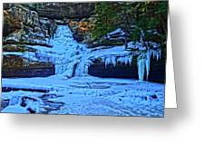 Hocking Hills State Park In Winter Greeting Card
