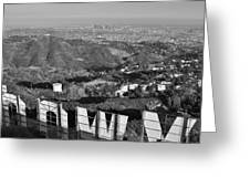 Hollywood And The Los Angeles City Skyline Greeting Card