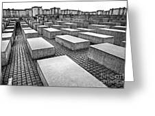 Holocaust Memorial - Berlin Greeting Card
