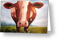 Holy Cow Greeting Card by Paula Marsh
