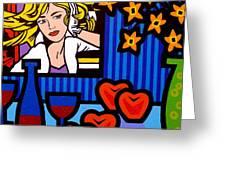 Homage To Lichtenstein Greeting Card