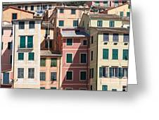homes in Camogli Greeting Card