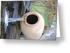Honey Pot Water Fall Greeting Card
