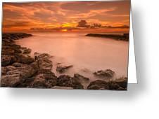 Honolulu Sunset Greeting Card