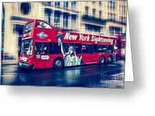 hop on hop off  through NYC Greeting Card