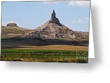 Chimney Rock Nebraska Greeting Card