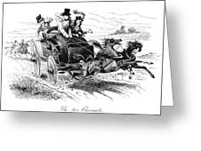 Horse-drawn Carriage Greeting Card