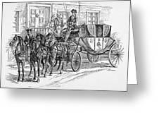 Horse-drawn Coach Greeting Card