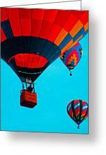 Hot Air Balloon Flight Greeting Card