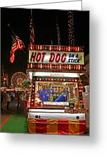 Hot Dog On A Stick Greeting Card