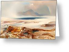 Hot Springs Of Yellowstone Greeting Card