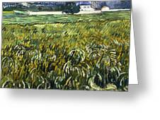 House At Auvers Greeting Card