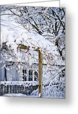 House Under Snow Greeting Card by Elena Elisseeva