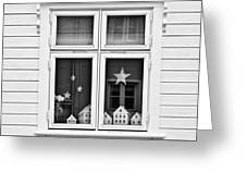 Houses And Windows Greeting Card