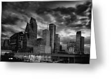 Houston At Twilight Greeting Card