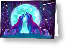 Howling Together Greeting Card
