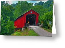 Hune Covered Bridge Greeting Card