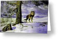 Hunting Wolf Greeting Card