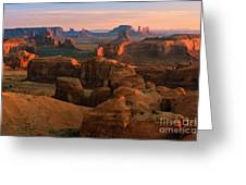 Hunts Mesa In Monument Valley Greeting Card