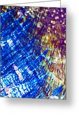 Hydroquinone Microcrystals Color Abstract Art Greeting Card