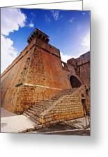 Ibiza Town Walls Greeting Card