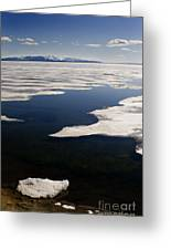 Ice On Yellowstone Lake Greeting Card