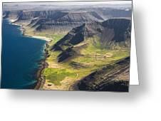 Iceland Plateau Mountains Greeting Card