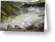 Iceland Steam Valley Greeting Card
