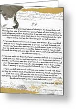 If By Rudyard Kipling Greeting Card