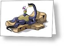 Illustration Of A Brontosaurus Greeting Card