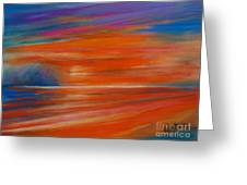 Impression Sunset 02 Greeting Card
