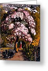 In A Shoreham Garden Greeting Card