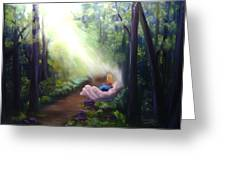In God's Hand Greeting Card by Connie Townsend