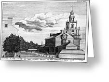 Independence Hall, 1778 Greeting Card