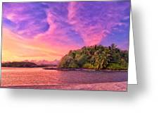 Indian Ocean Sunset Greeting Card