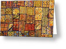 Indian Patchwork Carpet Greeting Card