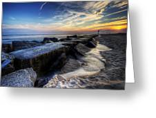 Indian River Inlet Sunrise Greeting Card