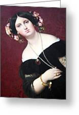 Ingres' Madame Moitessier Abstract Greeting Card