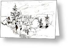 Ink Sketch Greeting Card