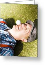 Insane Sport Nut Crazy About Golf Greeting Card