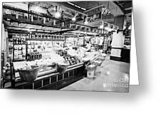 inside lonsdale quay market shopping mall north Vancouver BC Canada Greeting Card