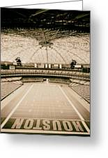 Interior Of The Old Astrodome Greeting Card